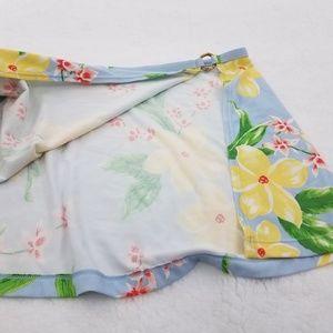 Tommy Hilfiger Swim - Tommy Hilfiger Skirt M Blue Yellow Floral Hawaiian